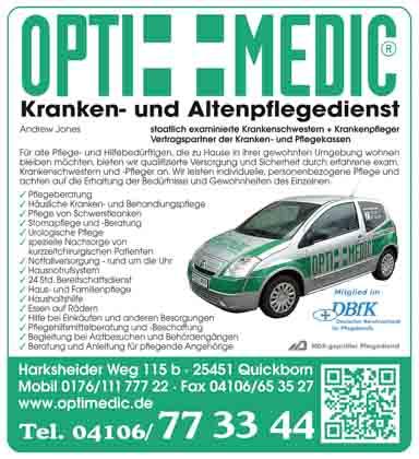 Hartmann-Marktplatz Optimedic – Kranken- und Altenpflegedienst Hartmann-Plan
