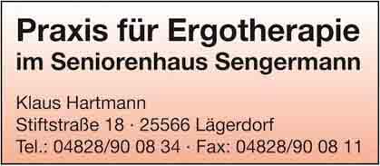 Hartmann-Marktplatz Ergotherapiepraxis im Seniorenzentrum Sengermann Hartmann-Plan