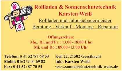 Hartmann-Marktplatz Rolladen & Sonnenschutztechnik Karsten Weiß Hartmann-Plan