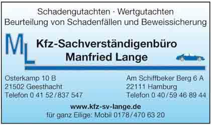 Hartmann-Marktplatz Kfz-Sachverständigenbüro - Manfried Lange Hartmann-Plan