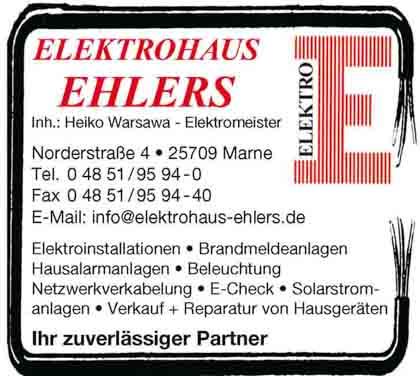 Hartmann-Marktplatz Elektrohaus Ehlers- Inhaber: Heiko Warsawa Hartmann-Plan
