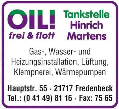 Hartmann-Marktplatz Hinrich Martens Gas-, Wasser- u. Heizungsinstallation Hartmann-Plan
