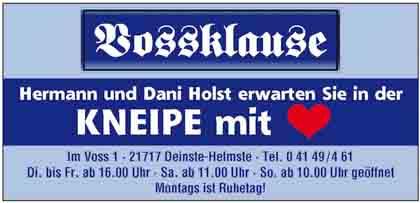 Hartmann-Marktplatz Vossklause Inh. Hermann Holst Hartmann-Plan