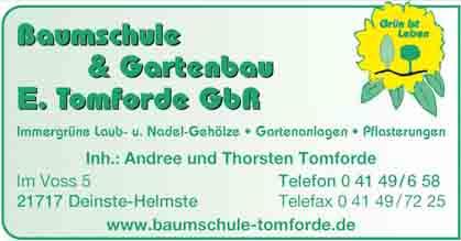 Hartmann-Marktplatz Baumschule & Gartenbau E. Tomforde GbR Hartmann-Plan