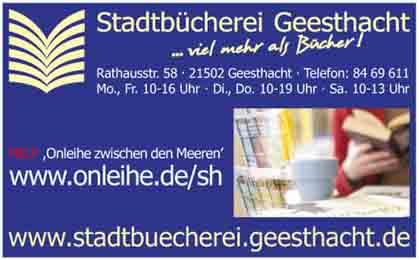 Hartmann-Marktplatz Stadtbücherei Geesthacht Hartmann-Plan