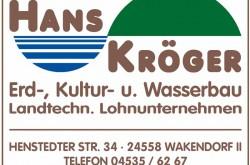 Hans Kröger - Erd-, Kultur- und Wasserbau