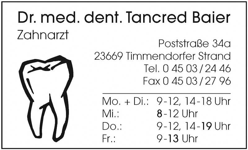 Hartmann-Marktplatz Dr. med. dent. Tancred Baier Hartmann-Plan