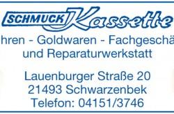 Schmuck Kassette Uhren-Goldwaren-Fachgeschäft  u. Reparaturwerkstatt