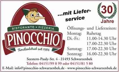 Hartmann-Marktplatz Pizzeria - Ristorante Pinocchio Hartmann-Plan