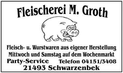 Hartmann-Marktplatz Fleischerei Groth Party Service Hartmann-Plan