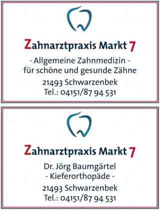 Hartmann-Marktplatz Zahnarztpraxis Markt 7 Dr. Jörg Baumgartel Hartmann-Plan