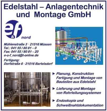 Hartmann-Marktplatz E & F Nord- Edelstahl-Anlagentechnik - und Montage GmbH Hartmann-Plan