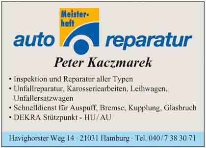 Hartmann-Marktplatz Kfz Meisterbetrieb - Peter Kaczmarek Hartmann-Plan