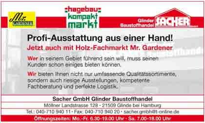 Hartmann-Marktplatz Sacher GmbH - Glinder Baustoffhandel Hartmann-Plan
