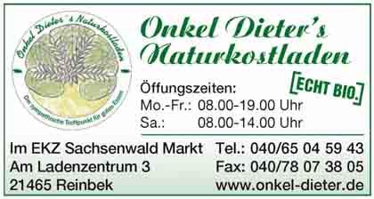 Hartmann-Marktplatz Onkel Dieters�s - Naturkostladen Hartmann-Plan