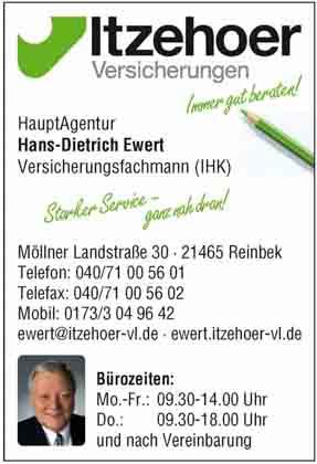 Hartmann-Marktplatz Itzehoer Versicherungen- Vertrauensmann - Hans-Dietrich Ewert Hartmann-Plan